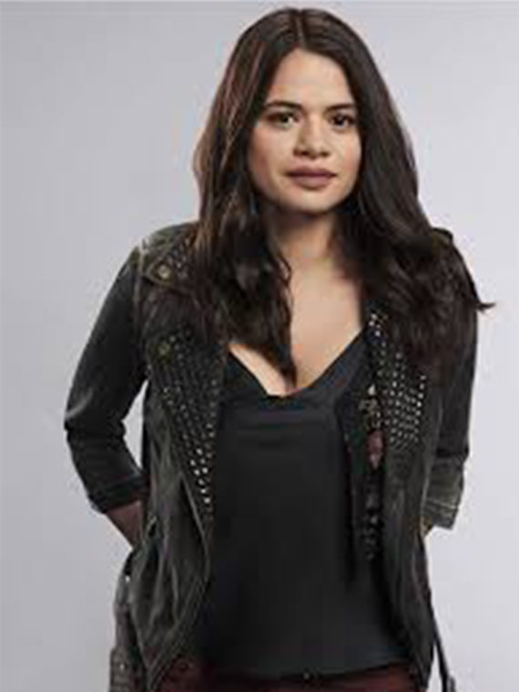 Melonie Diaz Charmed Series Black Leather Jacket