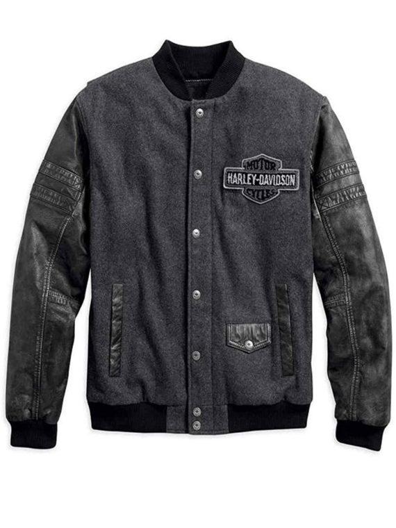 Men's Harley Davidson Bomber Leather Jacket