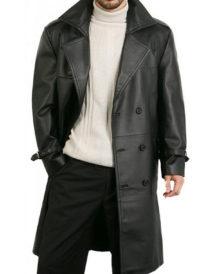 Men Double Breasted Black coat