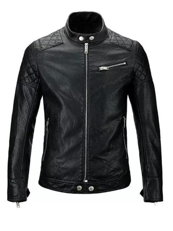Men Skull Motorcycle Jacket