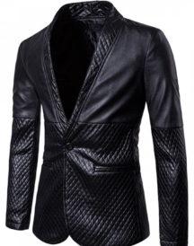 Men Stylish Black Leather Blazer
