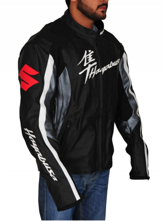 Men Suzuki Hayabusa Motorbike Jacket