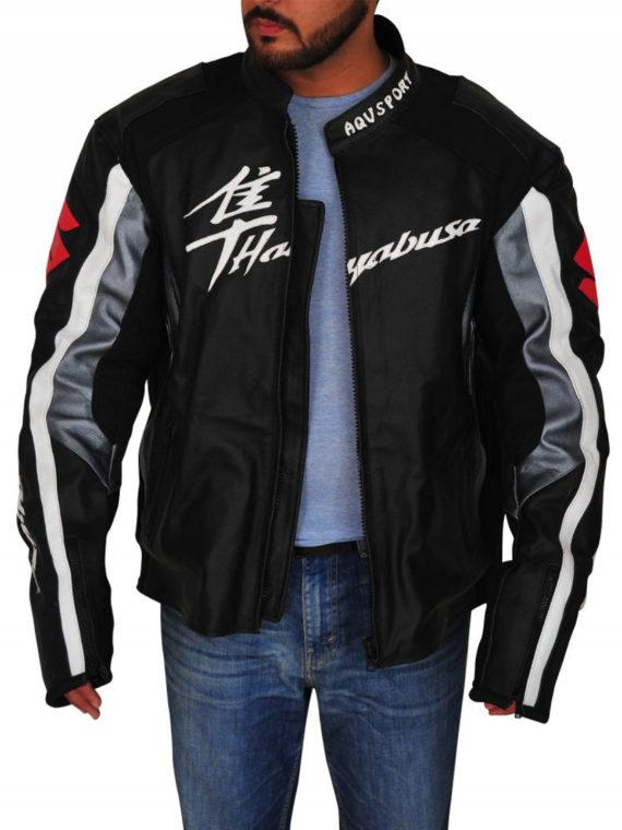 Men Suzuki Hayabusa Motorbike Leather Jacket