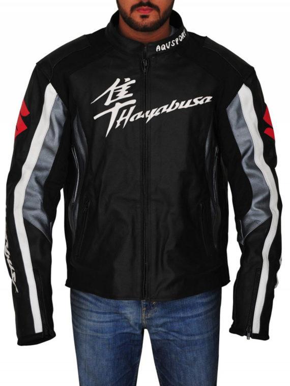 Men Suzuki Hayabusa Motorbike Riding Jacket