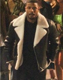 Michael B Jordan Shearling Leather Jacket
