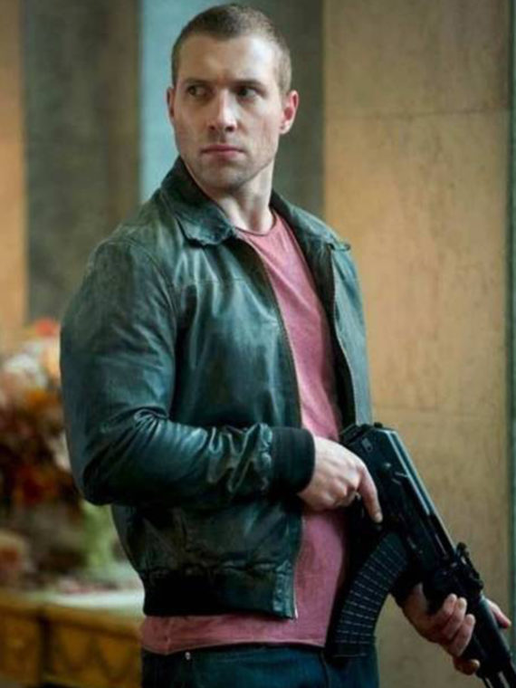 A Good Day To Die Hard Jai Courtney Leather Jacket