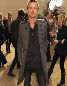 Aaron Paul London Fashion Coat