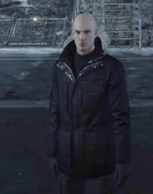 Agent 47 Hitman Cotton Black Parka