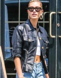 Ailey Rhode Bieber Black Jacket
