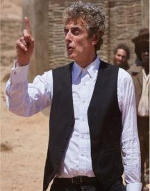 Peter Capaldi Doctor Black Vest