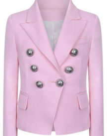 Pink hue Color Classic Blazer Girl