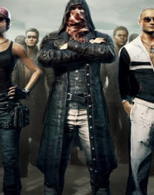 PlayerUnknown's Battlegrounds Leather Hoodie Coat