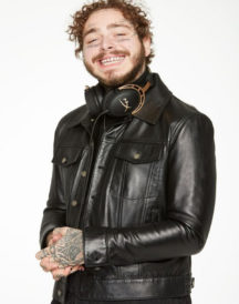 Post Malone Black Leather Jacket