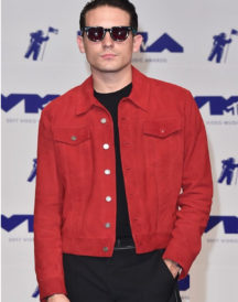 Rapper G-Eazy Red Suede Leather Jacket