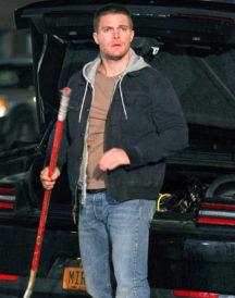 Stephen Amell TMNT Casey Jones Jacket