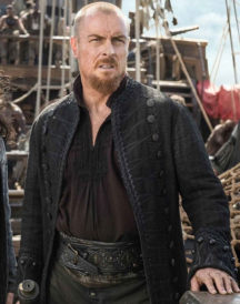 Toby Stephens Trench Leather Coat
