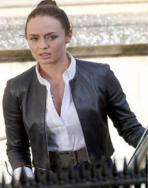 Transformers Laura Haddock Black Leather Jacket