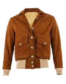 Women's Suede Bomber Brown Leather Jacket