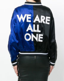 Womens Embroidered Slogan Jacket