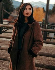 Yellowstone Kelsey Asbille Suede Brown Coat