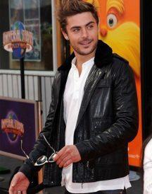 Zac Efron Jacket With Fur Collar