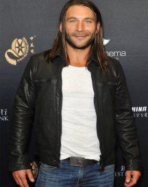 Zach McGowan Black Leather Jacket