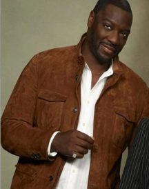 Adewale Akinnuoye Agbaje The Fix Suede Leather Jacket