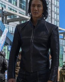Altered Carbon Will Yun Lee Black Leather Jacket