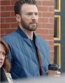 Chris Evans Hyundai Super Bowl Ad Blue Jacket