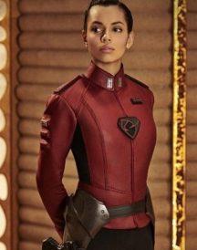 Krypton Lyta-zod Red Leather Jacket