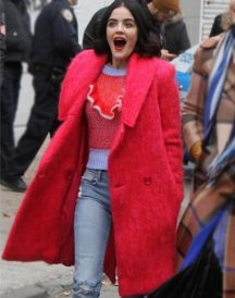 Lucy Hale Katy Keene Red Coat