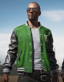 Pubg 5m Varsity Leather Jacket