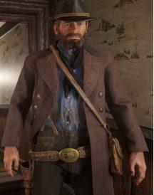 Red Dead Redemption 2 Brown Cotton Coat