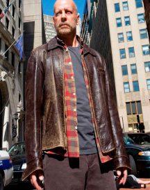 Surrogates Tom Greer Distressed Brown Jacket