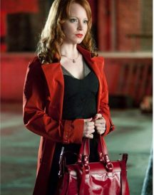Torchwood Jilly Kitzinger Red Cotton Coat