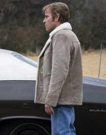 True Detective Roland West Shearling Jacket