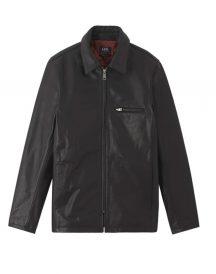 A.P.C. No Fun Black Leather Jacket
