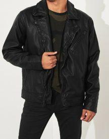 Abercrombie Hollister Black Leather Jacket