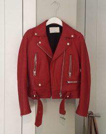 Acne Studios Mock Red Leather Jacket