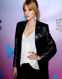Bella Thorne Pre-Grammy Coat Jacket