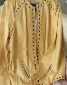 Bradley Bayou Yellow Leather Jacket