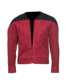Captain Picard Star Trek Next Generation Suede Leather Stewart Jacket