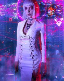 Cyberpunk 2077 Night City Neon Coat