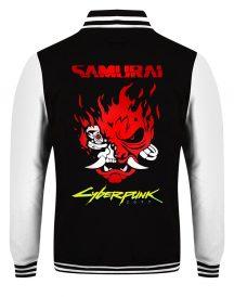 Cyberpunk 2077 Samurai Skull Varsity Jacket