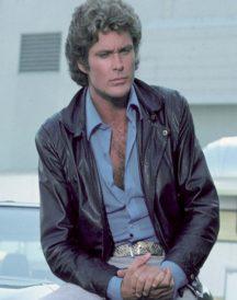 David Hasselhoff Knight Rider Leather Jacket