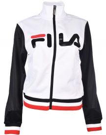 Fila White and Black Leather Jacket