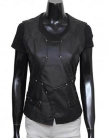 Gamora Black Leather Vest