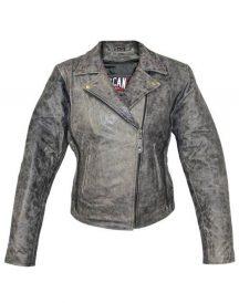 Garcia Grey Casual Slim Biker Leather Jacket