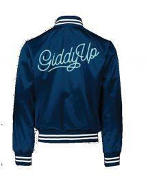 Giddy Up Blue Bomber Satin Jacket