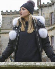 The Bachelorette Hannah Brown Fur Hooded Jacket